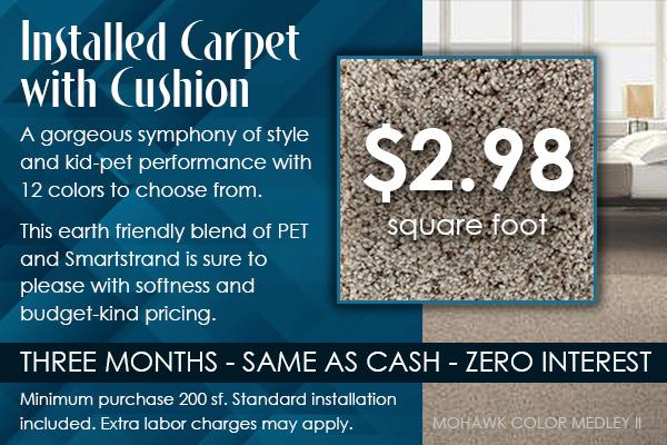 Mohawk Installed Carpet W Cushion 2 98 Sq Ft Free