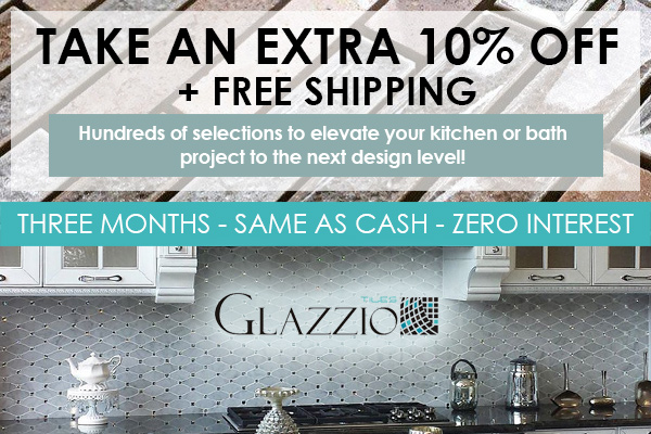 Take an extra 10% off + free shipping on hundreds of selections from Glazzio tiles!